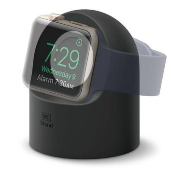 Elago W2 Stand [black]   [supports Nightstand Mode][cable Management][scratch Free Silicone]   For Apple Watch Series 1 2 And 3