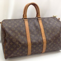Auth Louis Vuitton Monogram Keepall 45 Travel Boston Hand Bag 8C230070F