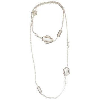 Hermes Sterling Silver Attelage Long Necklace - Circa 2015