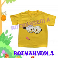 despicable me minion 100% organic cotton American Apparel brand toddler shirt has been screen printed