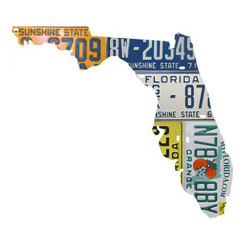 Florida License Plate wall decal