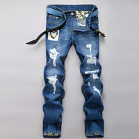 Winter Strong Character Men Pants Men's Fashion Korean Stylish Jeans [6528597635]
