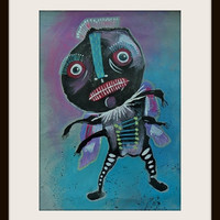 Creepy Insect - Kids Insect Art - Weird Man Art - Monster Art - Horror Art - Scary Monster - Spooky Art - Cute Monsters - Scary Creatures
