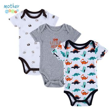 3 Piece Short Sleeve Onsies Girl&Boy