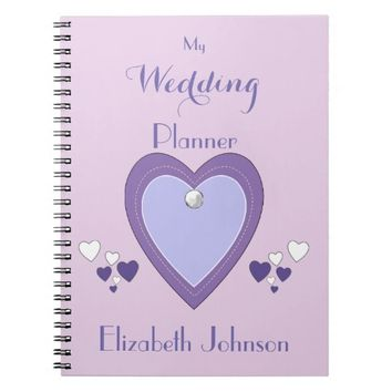Wedding planner Notebook / purple and lilac