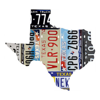 Texas License Plate wall decal