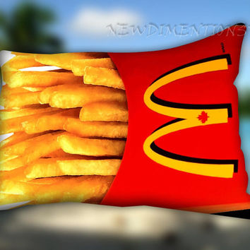 "McDonalds French Fries - Pillow Case Cover Bedding SIZE 30"" x 20"""