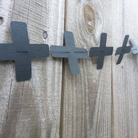 12 Ft Line with Black Crosses/Plus Signs Paper Garland