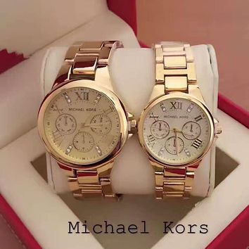 Michael Kors Lover Couple Fashion Quartz Movement Watch Wristwatch