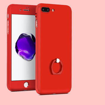 Ring Grip Stand iPhone Case   Red