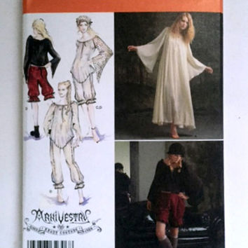 Simplicity 2777 Arkivestry Renaissance Faire Costume Sewing Pattern Gown Top Bloomers Womens 14 16 18 2 22 New Uncut