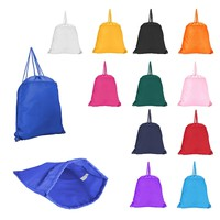DALIX Drawstring Backpack Sack Pack with Zipper