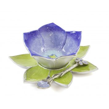 Blue Blossom Condiment Dish by Quest, Serving Pieces
