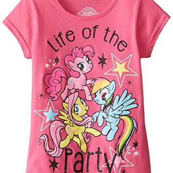 Hasbro Little Girls' My Little Pony Party Graphic Tee, Lollipop, 6