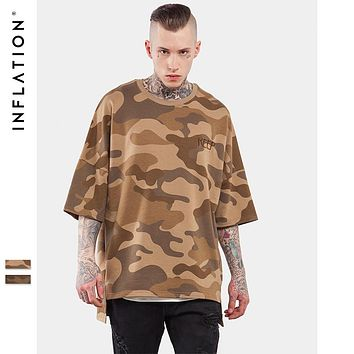 INFLATION  Men's Oversized Camo Loose Tee