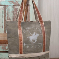 Charleston Polo Tote Bag