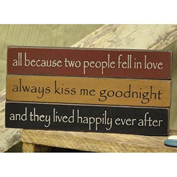 Love - Mini Desk Sitter Signs - Set of 3