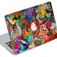 Stickers Macbook Decal Skin Macbook Air Skin Pro Skins Retina Cover Paint Colors Picture Christmas Gift New Year ( rm31)