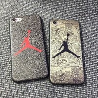 Fashion Air Jordan Michael Jordan Jump Man Chicago Bulls TPU Phone Case Cover For iPhone 6 6s 6 plus 6s plus 7 7 plus