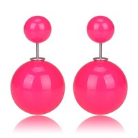 Gum Tee Mise en Style Tribal Earrings - Jelly Bean Rose Pink