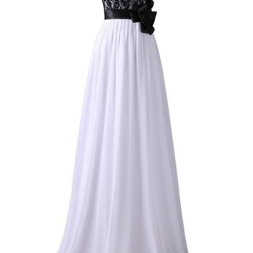 Sexy Black Lace Evening Dresses Long Bandage Evening Gowns Elegant White Chiffon Formal Mother Of The Bride Wedding Party Dress