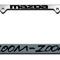 Mazda Zoom Zoom Chrome License Plate Frame
