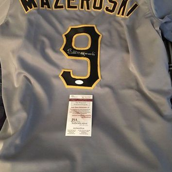 ESBONY Bill Mazeroki Signed Autographed Pittsburgh Pirates Baseball Jersey (JSA COA)
