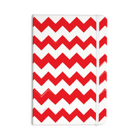 "KESS Original ""Candy Cane Red"" Chevron Everything Notebook"