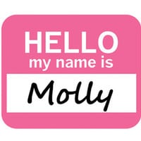 Molly Hello My Name Is Mouse Pad