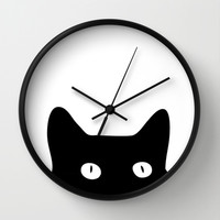 Black Cat Wall Clock by Good Sense