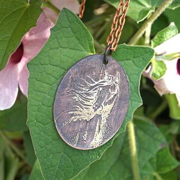 Horse Necklace Equesterian