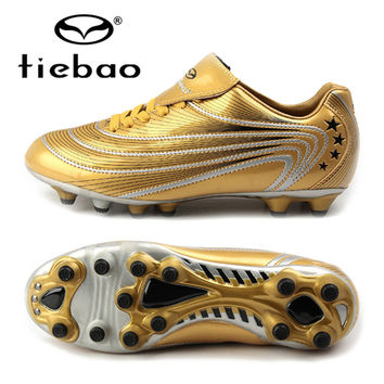 TIEBAO 2017 Outdoor Sports Men Soccer Shoes Athletic Leather Soccer Cleats Sneakers Trainers New Design AG Soles football boots