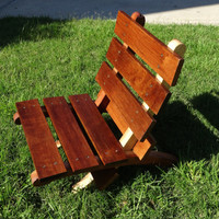 Portable Wooden 2 Piece Chair