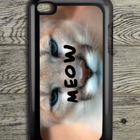Cream Lion Black Meow iPod 4 Touch Case