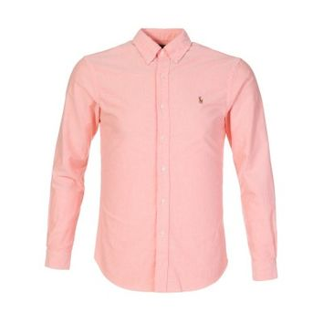 Polo Ralph Lauren Peach Oxford Slim Shirt