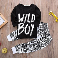 ( Wild Boy ) Boys Shirt and Pants Set