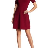 Vanity Room | Short Sleeve Ponte Fit & Flare Dress | Nordstrom Rack