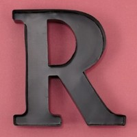 "Personalized Letter ""R"" Metal Wall Wine Cork Holder - Monogram Wall Art"