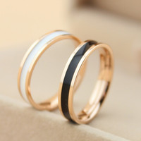 ceramics 18k  rose gold ring lover tail ring gift-149