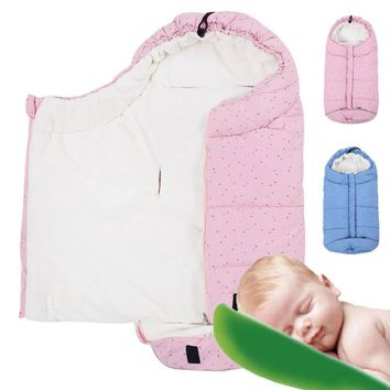 Baby stroller sleeping bags envelope for newborn winter wrap sleep sacks Baby blanket swaddling prams bed swaddle bedding B4