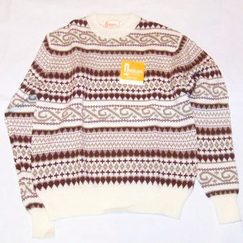 Vintage Indian Sportswear Acrylic Sweater Size Large New with Tags