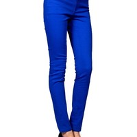 Mid Rise Skinny Jeans, Cobalt  (Size S)
