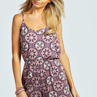 Farrah Paisley Print Strappy Back Playsuit