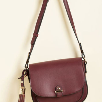Tassel in Air Bag in Burgundy | Mod Retro Vintage Bags | ModCloth.com