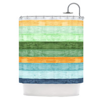 "Monika Strigel ""Beach Wood Blue"" Shower Curtain"