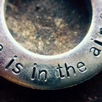 Love is in the air metal stamping necklace