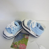 Baby Sneakers, Blue Baby Sneakers, Knit Baby Boy Booties, Athletic Shoes, Baby High Top Sneakers, Baby Boy Shoes.