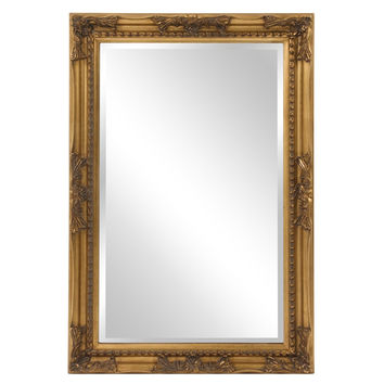 "Howard Elliott Queen Ann Rectangular Gold Mirror 24"" x 36"" x 1"""