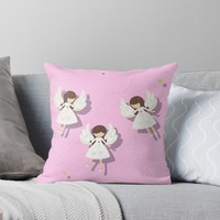 'Christmas angels ' Throw Pillow by ValentinaHramov