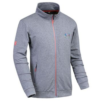 DCCKI72 Trendsetter Under Armour Men Fashion Casual Cardigan Jacket Coat